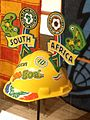 Little world, Aichi prefecture - African plaza - Helmet for support of soccer - Johannesburg in South Africa - Collected in 2010.jpg