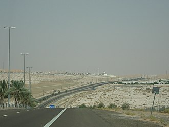 Liwa Oasis - Highway connecting the villages of Liwa
