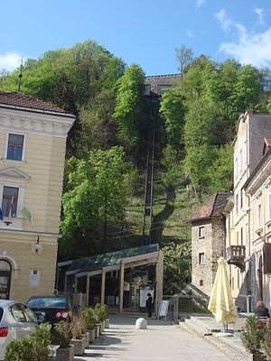 Ljubljana Castle funicular - Image: Ljubljana 2 065
