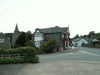 Llangurig village in the county of Powys, Wales