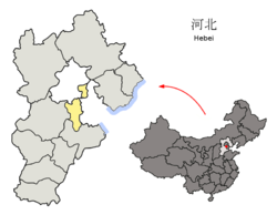Location of Langfang City jurisdiction in Hebei