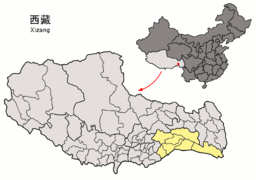 Location of Nyingchi Prefecture within Xizang (China).png