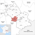 Locator map of Kanton Le Sud Grésivaudan 2019.png