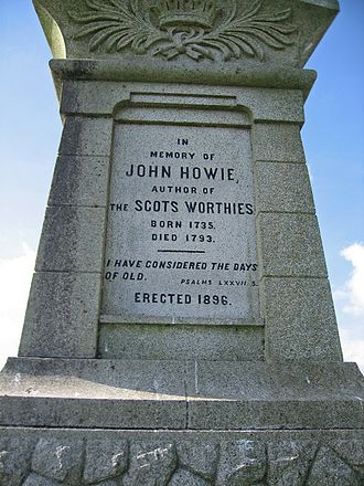 John Howie (biographer) - Inscription on the obelisk