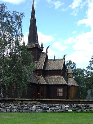 Lom, Norway - Image: Lom stave church