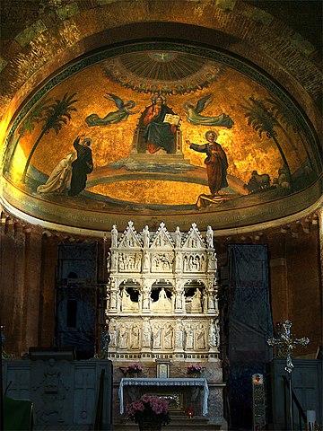 Средневековая рака с мощами св. Августина в Чьельдоро, Павия