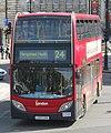 London General bus E73 (LX57 CKA) 2007 Alexander Dennis Enviro400 integral, Trafalgar Square, route 24, 13 June 2011 (1).jpg