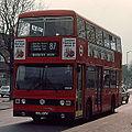 London Transport bus T107 (CUL 107V) 1979 Leyland Titan B15, route 87, Barking, 11 April 1980.jpg