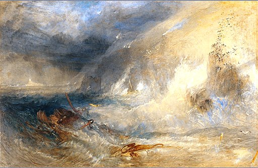 Long Ship's Lighthouse, Land's End, by Turner