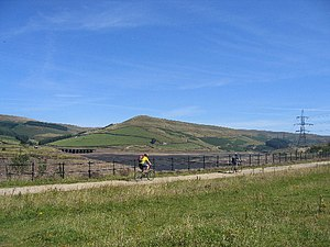 Woodhead line - The Longdendale Trail, on the former trackbed between Hadfield and Woodhead