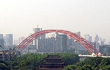 Looking toward the Tiemen Gate and Qingchuan Tower-edit.jpg