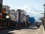 Looking up Mt. Fuji from the Kamiyoshida town.JPG