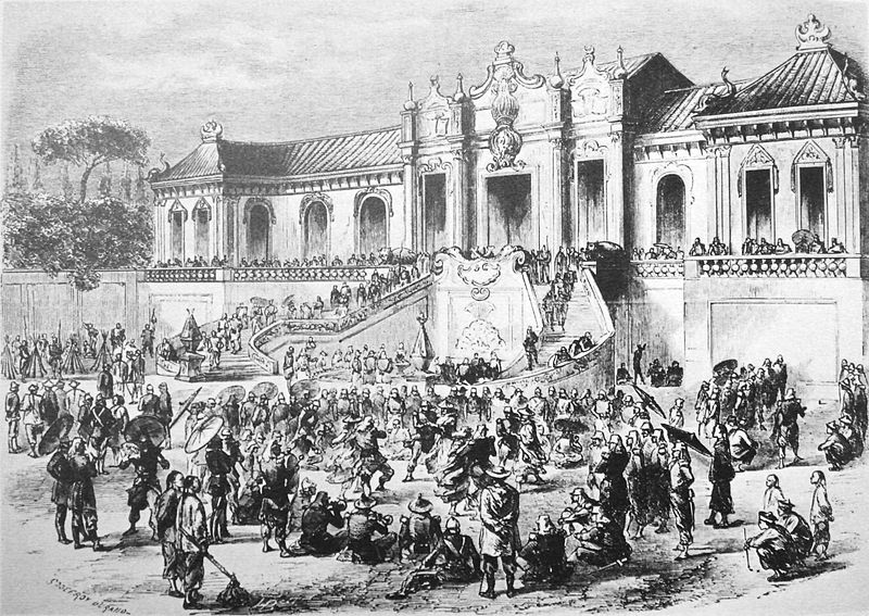 Looting of the Yuan Ming Yuan by Anglo-French forces in 1860.