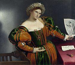 A Venetian woman in the guise of Lucretia (1533).