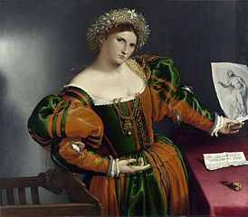 Venetian Woman in the Guise of Lucretia, Lorenzo Lotto 1533