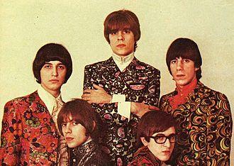 La balsa - Los Gatos, circa 1968. Clockwise from top left: Ciro Fogliatta, Litto Nebbia, Oscar Moro, Kay Galifi and Alfredo Toth.