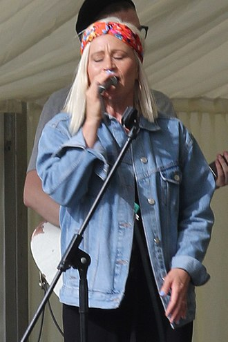 Lou Fellingham - Lou Fellingham performing at the Big Church Day Out Festival at Wiston, West Sussex in 2017