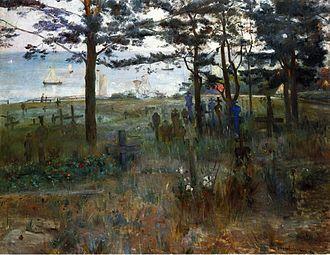 Nida, Lithuania - Corinth: Churchyard in Nidden (1893)
