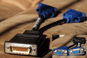 Low-force helix - DMS-59 VGA adapter (note missing pin 58)