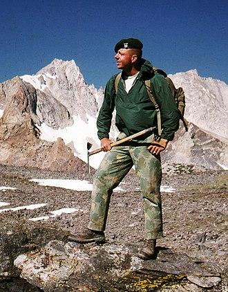 Vince Lee (explorer) - Lt Vince Lee, MWTC instructor Mountain Warfare Training 1963