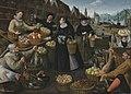 Lucas van Valckenborch and Georg Flegel - A fruit and vegetable stall above the Weinmarkt in Frankfurt (Allegory of Autumn).jpg