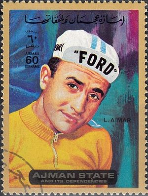 Lucien Aimar - Aimar on a 1972 UAE stamp