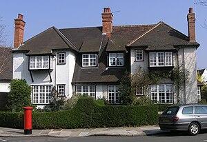 Brentham Garden Suburb - Ludlow Road in Brentham Garden Suburb