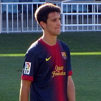 Luis Alberto playing for Barcelona B in 2012