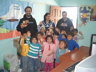 Luis Falcón - Luis Falcon in Santiago del Estero school 2006