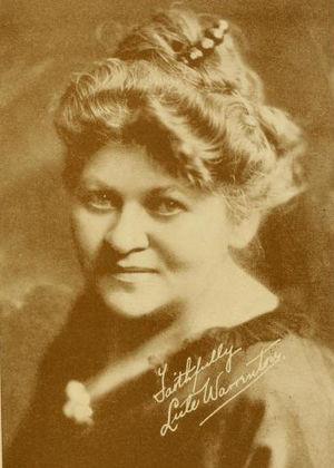 Lule Warrenton - Warrenton autographed photo (1915)