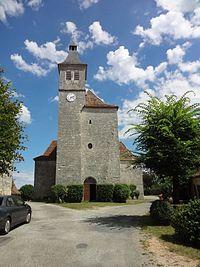 Lunegarde, église Saint-Julien, façade.jpg