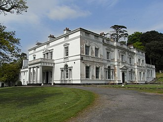 Lupton, Brixham - Lupton House, view from west, left: west front; right: south front