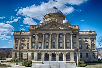 The Luzerne County Courthouse houses the county government Luzerne County Courthouse flickr.jpg