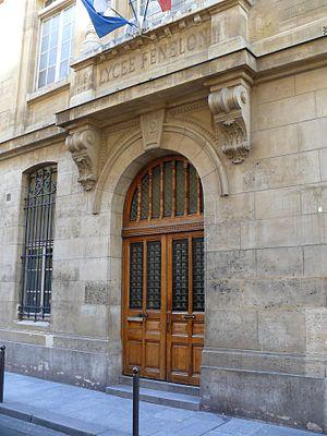 Lycée Fénelon, Paris - Main entrance
