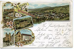 Bad Münstereifel - 1897 litho-map