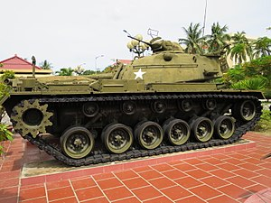 Zone 5 Military Museum, Danang - Image: M48A3 at Zone 5 Military Museum, Danang