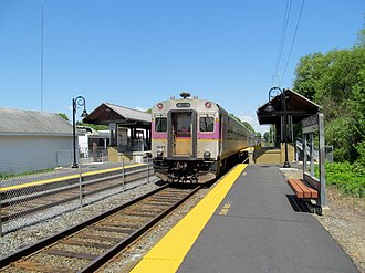 Lowell Line - An outbound Lowell Line train at North Billerica station