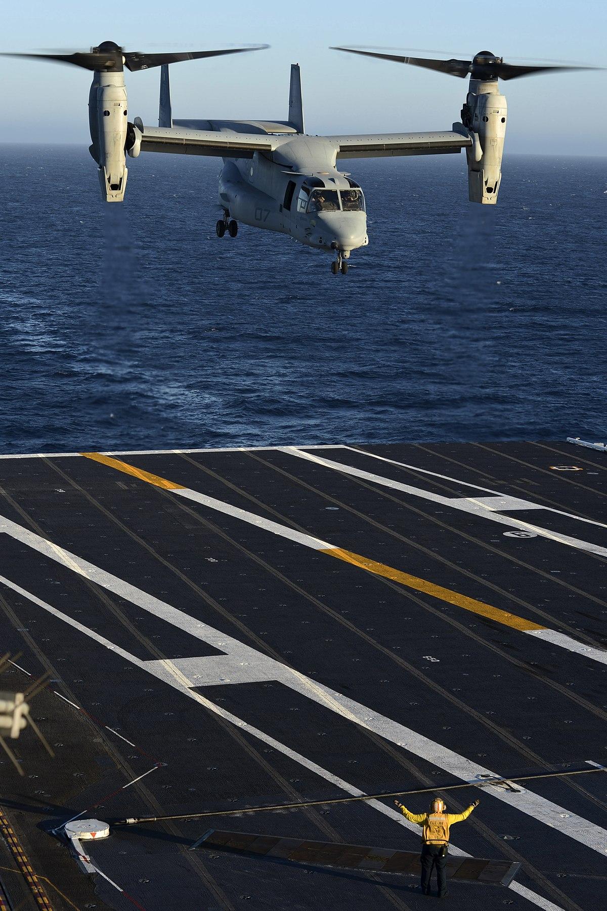 MV-22 Osprey on USS Nimitz (CVN-68) (121006-N-LP801-082).jpg