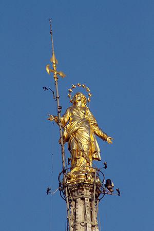 Madonnina (statue) - The Madonnina atop Milan Cathedral
