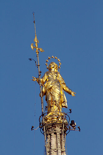 Madonnina (statue) - The Madonnina atop Milan Cathedral