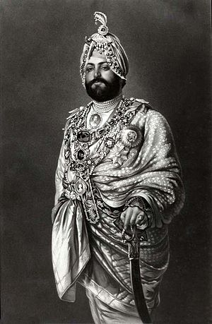 English: Maharajah Duleep Bassi dressed for a ...