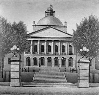 Maine State House - Maine State House as originally designed (image from mid-1800s)