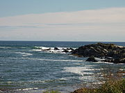 The rocky coast around Kennebunk.