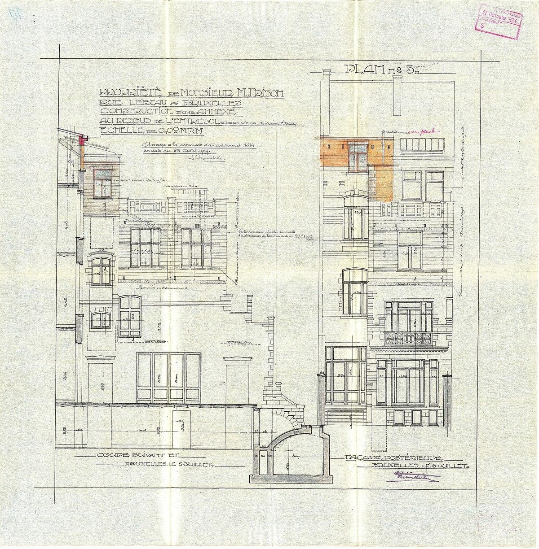 File Maison Frison Plan D Extension Depose Le 17 Octobre 1924 Elevation Pdf Wikimedia Commons