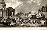 Malapeau Claude-Nicolas Translation de Voltaire au Panthéon