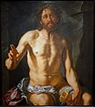 Man of Sorrows with a Chalice (Christ as Redeemer), by Hendrick Goltzius, Dutch, 1614, oil on wood panel - Princeton University Art Museum - DSC06584.jpg