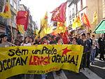 Manifestación en Béziers en 2007.