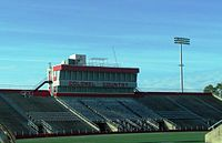 Manning Field at John L. Guidry Stadium-Press Box.jpg