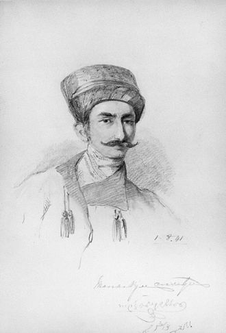 Manockjee Cursetjee - Manockjee Cursetjee, 1841 drawing by William Brockedon