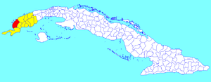 Mantua, Cuba - Image: Mantua (Cuban municipal map)